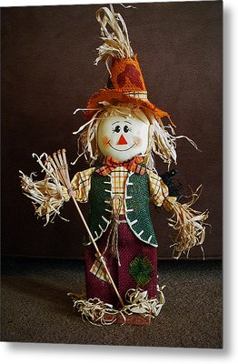 Halloween Scarecrow Metal Print by Aimee L Maher Photography and Art Visit ALMGallerydotcom
