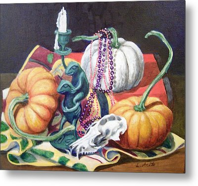 Halloween Scene Metal Print by Laura Aceto