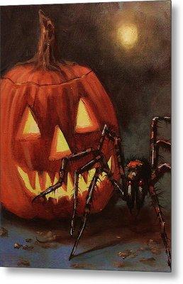 Halloween Spider Metal Print by Tom Shropshire
