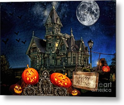 Halloween Spot Metal Print by Mo T
