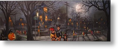 Halloween Trick Or Treat Metal Print by Tom Shropshire