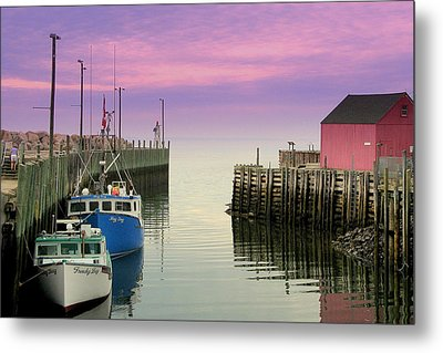 Halls Harbour Evening Metal Print
