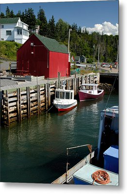 Halls Harbour Fishing Cove Metal Print by Norman Pogson