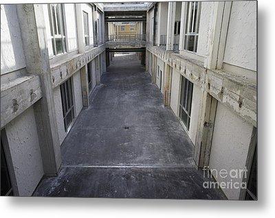 Hallway In Between Renovated Buildings Metal Print by Sami Sarkis