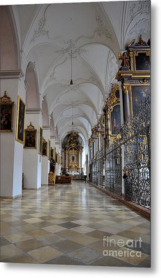 Metal Print featuring the photograph Hallway Of A Church Munich Germany by Imran Ahmed