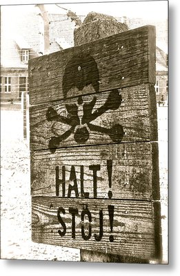 Halt This Madness Metal Print by Kim Pippinger