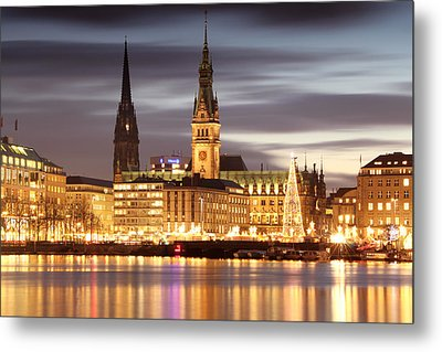 Hamburg Christmas Metal Print