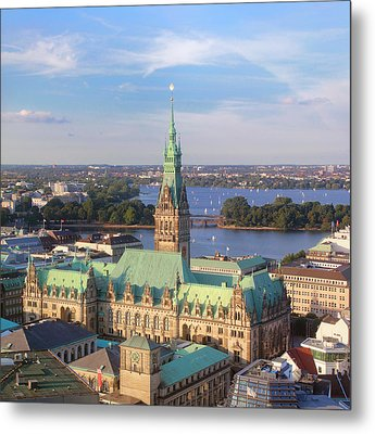 Hamburg City Hall Metal Print by Marc Huebner