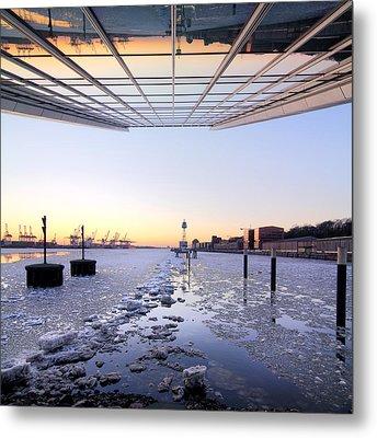 Hamburg Dockland Metal Print by Marc Huebner