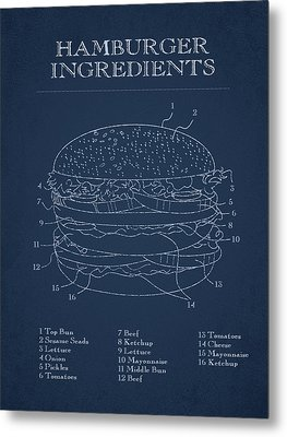 Hamburger Metal Print by Aged Pixel