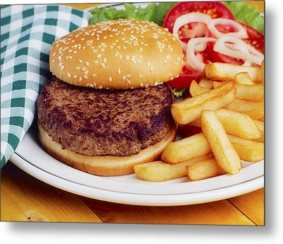 Hamburger & French Fries Metal Print by The Irish Image Collection