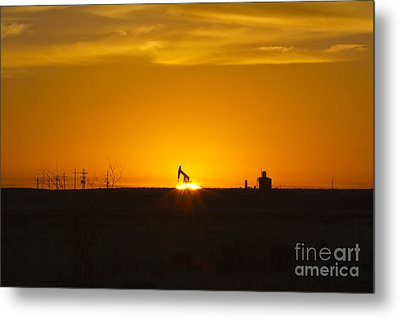 Hammering The Sun Metal Print