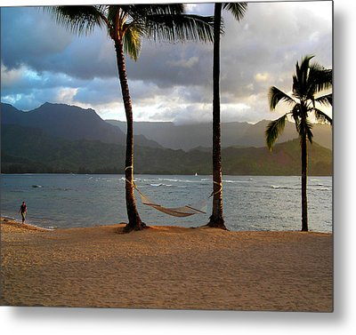 Hammock At Hanalei Bay Metal Print by James Eddy
