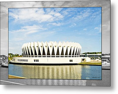 Hampton Coliseum Metal Print by Walter Herrit