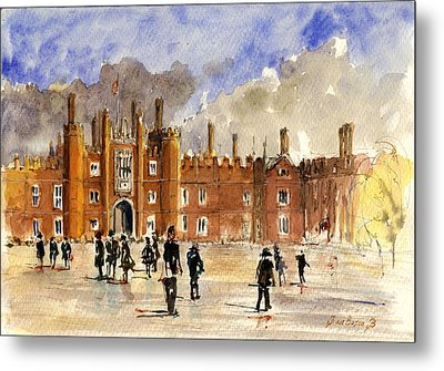 Hampton Court Palace London  Metal Print by Juan  Bosco