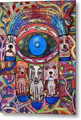 Hamsa Dog Blessing' Metal Print