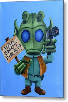 Han Shot First  Metal Print by Chris  Leon