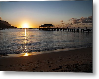 Hanalei Bay Sunset Metal Print by Brian Harig