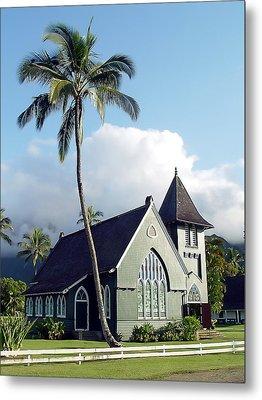 Hanalei Church 2 Metal Print