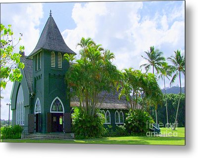 Hanalei Church Metal Print by Mary Deal