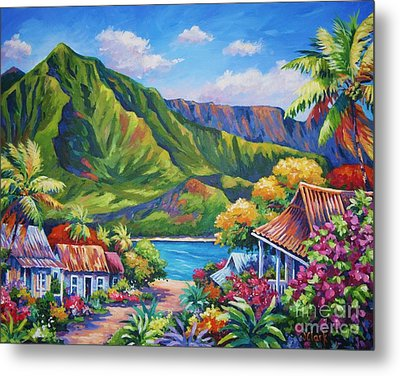 Hanalei In Bloom Metal Print by John Clark
