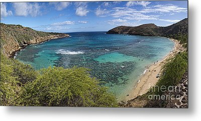 Hanauma Bay Panorama Metal Print by David Smith
