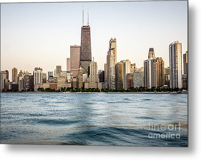 Hancock Building And Chicago Skyline Metal Print by Paul Velgos