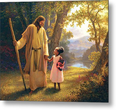 Hand In Hand Metal Print by Greg Olsen
