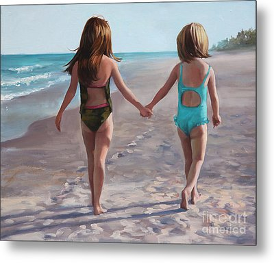 Hand In Hand  Metal Print by Laurie Hein
