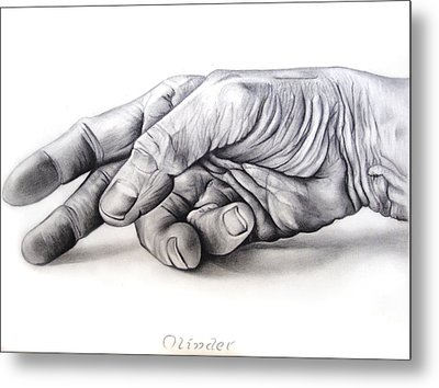 Hand Of Hard Work Metal Print by Atinderpal Singh