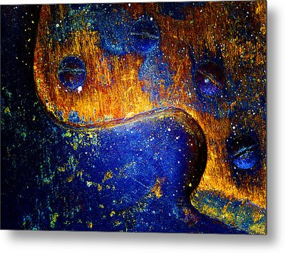 Hand Saw Metal Print by Laurie Tsemak