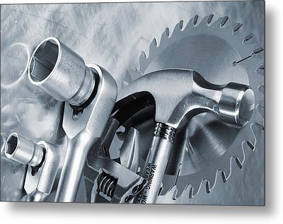 Hand Tools For Carpentry Metal Print