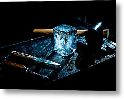 Handcrafted Icecube Metal Print by Wolfgang Simm