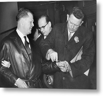 Handcuffs For Jimmy Hoffa Metal Print