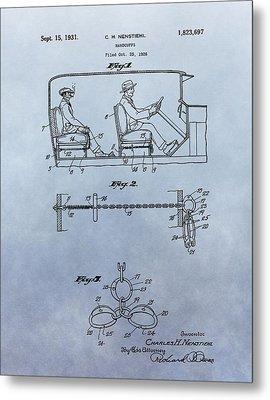 Handcuffs Law Enforcement Patent Metal Print by Dan Sproul