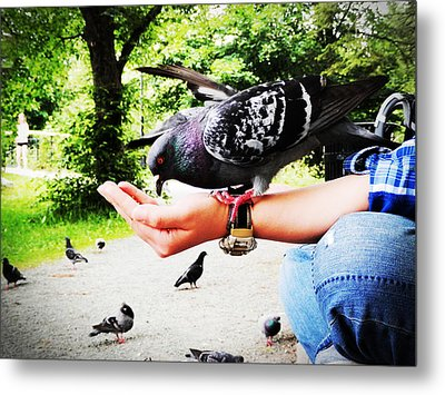 Handful Happiness Metal Print