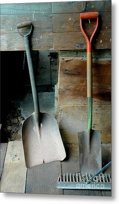 Metal Print featuring the photograph Handled And Raked by Christiane Hellner-OBrien
