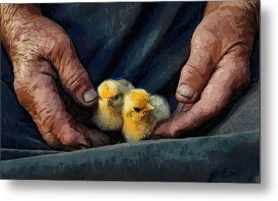 Metal Print featuring the painting Hands by Georgi Dimitrov