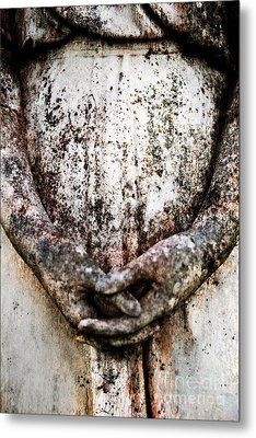 Hands In Prayer Metal Print by Sonja Quintero
