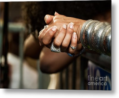 Hands Metal Print by Mary  Smyth