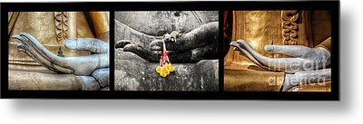 Hands Of Buddha Metal Print by Adrian Evans