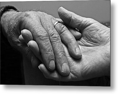 Metal Print featuring the photograph Hands Of Love by Barbara West