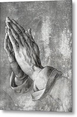 Hands Of Prayer  1508 Metal Print