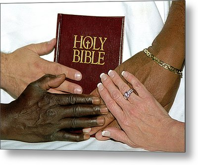 Hands On Bible Metal Print by Steve Archbold