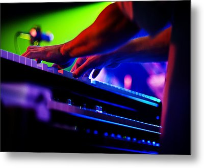 Hands Playing Piano Metal Print by Jennifer Rondinelli Reilly - Fine Art Photography