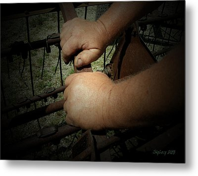Metal Print featuring the photograph Hands That Feed The World by Cynthia Lassiter