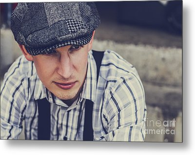 Handsome Fashionable Man In Vintage Apparel Metal Print by Jorgo Photography - Wall Art Gallery