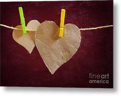 Hanged Heart Metal Print by Carlos Caetano