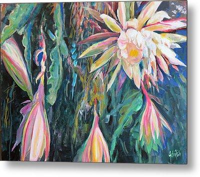 Hanging Garden Floral Metal Print by John Fish