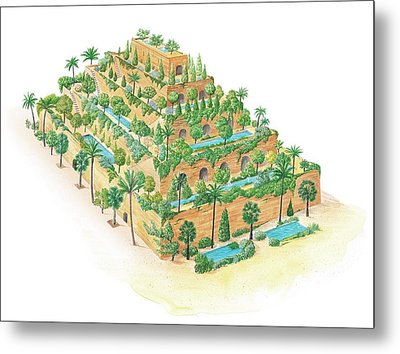 Hanging Gardens Of Babylon Metal Print by Gary Hincks